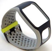 NEW TomTom Comfort Strap BLACK/GRAY Runner Multi-Sport GPS watch band cardio HR+