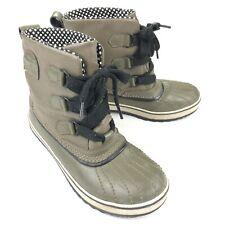 Sorel Tivoli Women's Mid Waterproof Snow Boots NL-1691-316 Army Green • Size 7