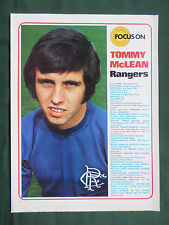 TOMMY MCLEAN - RANGERS PLAYER - 1 PAGE PICTURE - CLIPPING /CUTTING