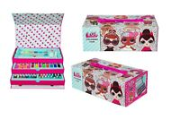Official LOL SURPRISE 52 Pieces Colouring Case Art Set Craft  Box With Drawer