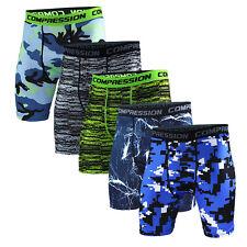 New Mens Compression Leggings Short Pants Summer Trousers Fitness Sports S-XXXL