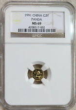 1991 China 1g Gold 3Y Panda NGC MS 69
