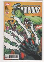 Champions #4 Mark Waid Humberto Ramos Spiderman Hulk Ms. Marvel Cyclops Nova 9.6
