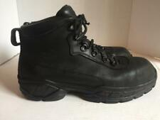 Men's Size 11 D RED WING Black Leather SteelToe Work Boots Made in USA Toes WORN