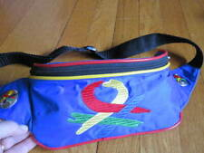 United Colors of Benetton Waist Belt Bum Bag Blue Colorful Vintage Fanny Pack