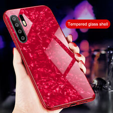 Case For Huawei P30 Pro P30 Luxury Marble Tempered Glass Hard Phone Cover