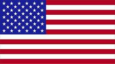 "#1049 (1) 3"" USA America Flag Decal Pannier SIde Case Helmet Sticker Laminated"