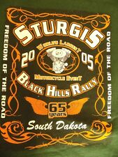 Sturgis Black Hills Rally 2005 65th Annual WORLD MOTERCYCLE EVENT T-Shirt Mens M