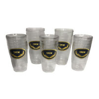 Set of 5 Vintage Tumblers Signature Series Insulated Wall Crew Patch Boating USA