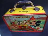 "AUSTRALIAN MADE DISNEYLAND ""MICKEY MOUSE"" TIN  TOY LUNCH BOX 1950'S"