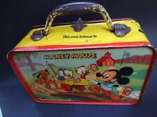 "AUSTRALIAN MADE DISNEYLAND ""MICKEY MOUSE"" TIN LUNCH BOX HORSFALL VIC C.1950'S"