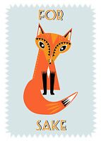 For Fox Sake Tea Towel 100% Cotton Home & Dry Range Gift Idea