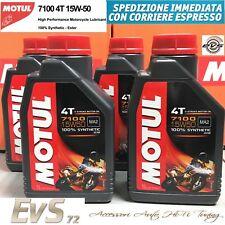 4 LT Olio Motore MOTUL 7100 15W50 MOTO 4T MA2 100% SINTETICO ESTER 4 Litri