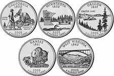 2005 US State Quarters Five Uncirculated Straight from mint US Mint