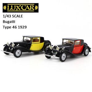 1/43 LUXCAR BUGATTI 46 FIACRE COUPE1929 Car Model Collection Red / Yellow