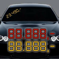 A69# Preisschild Aufkleber Sticker KFZ Handel Auto Autohandel Preis Price Car