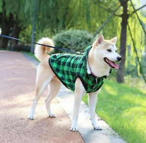 Paws Green Plaid Gleece Hoodie for Dog LARGE*please measure dog*
