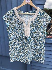 "Vintage Style DICKINSON & JONES Cotton Blouse , Size 12, ( 38"" Bust), #29"