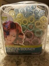 Conair 36 Pcs Brush Rollers Curlers Tight & Bouncy Curls 61146 New