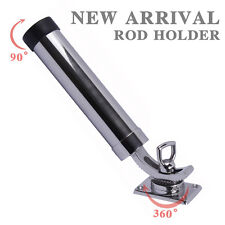 Boat 316 Stainless Steel Deck-Mount Adjustable Fishing Rod Holder Removable Pod