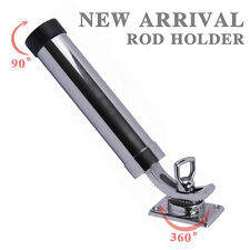 Boat 316 Stainless Steel Fishing Rod Holder Deck Mount Adjustable Yacht Rod Pod
