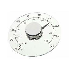 Outdoor Clear ℉ ℃ Circular Window Temperature Thermometer Weather Station Tool