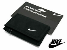 Nike Basic Swoosh Wallet Tri-Fold Black Mans Womans Unisex Money New