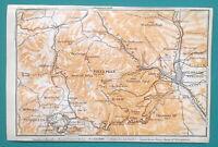 """COLORADO SPRINGS & Environs - 1909 MAP Baedeker 4 x 6"""" (10 x 15,5 cm)"""