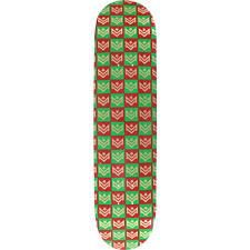 Mini Logo Skateboard Deck 248/K-20 -8.25 Gift Wrap Green/Red