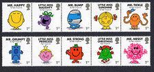 2016 mr men and little miss-mint stamp set of 10v sg 3891 - 3900