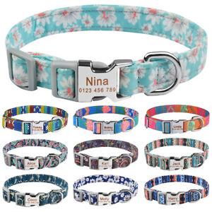 Personalised Dog Collar Girl Boy Custom Engraved Name ID Tag Small Medium Large