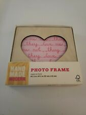 Hand Made Modern Heart Shape Wood Photo Frame Unfinished Craft Product