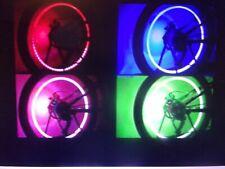 4 waterproof flash Bua2 Led lights for car bike wheel tire Valve Cap Neon Lights