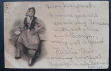 Peasant Girl Woman in Garb of the Day Columbus Mississippi MS 1907!