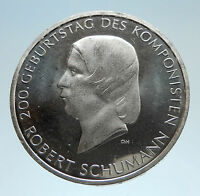 2010 GERMANY Robert Schumann Composer Music Genuine Proof Silver 10E Coin i75180
