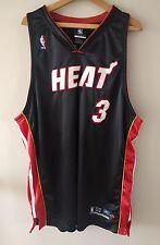 Men's Reebok NBA Miami Heat Dwyane Wade Jersey Sz. 52 - Sewn Stitched