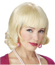 Synthetic Role play Reenactment Peluca Crossdresser Costume Blond Wig