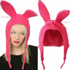 Licensed Louise Pink Bunny Ears Hat Bob's Burgers Cosplay Costume Halloween
