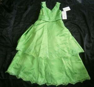 MINGDA'S DESIGNER DRESS 6 CHILD GREEN FORMAL PORTRAIT CHRISTMAS FANCY PARTY