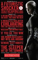 "Ex Machina New York Critics  Two Sided 27""x40' inches Original Movie Poster"