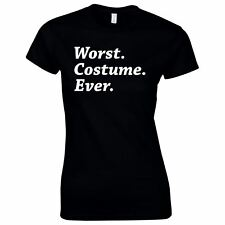 Halloween Costumes Women Scary Horror T-Shirt Worst Costume