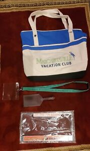 MARGARITAVILLE Tote Bag License Plate Frame Luggage Leather Tag Name Tag