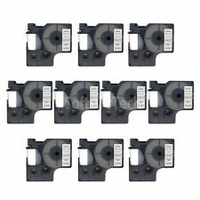 """10pk Black on Clear Label Tape Compatible for DYMO 43610 D1 6mm 1/4"""""""