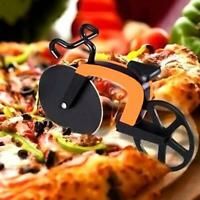 Pizza Wheel Cutter Bicycle Bike Shaped Roller Chopper Slicer Tool Kitchen Q1Y2