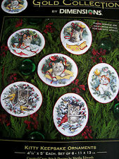 Christmas Dimensions GOLD COLLECTION Counted Ornament Kit,KITTY KEEPSAKE,#8730