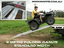 3 Metre Folding Quad Bike ATV Loading Ramps Heavy Duty Structural Aluminium