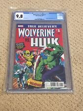 True Believers Wolverine vs Hulk 1 CGC 9.8 White Pages (Hulk 181 Homage)