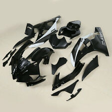 Black Silver ABS Plastic Fairing Bodywork Kit For YAMAHA YZF R6 YZF-R6 06-07 14A