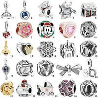 925 Sterling NEW European Silver Charms CZ Pendant Bead fit Bracelet Necklace