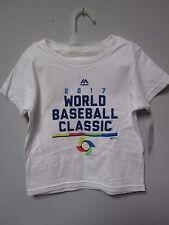Majestic 2017 World Baseball Classic White Toddler T-Shirt Size 4T